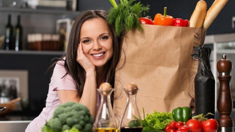 женщина здоровое питание