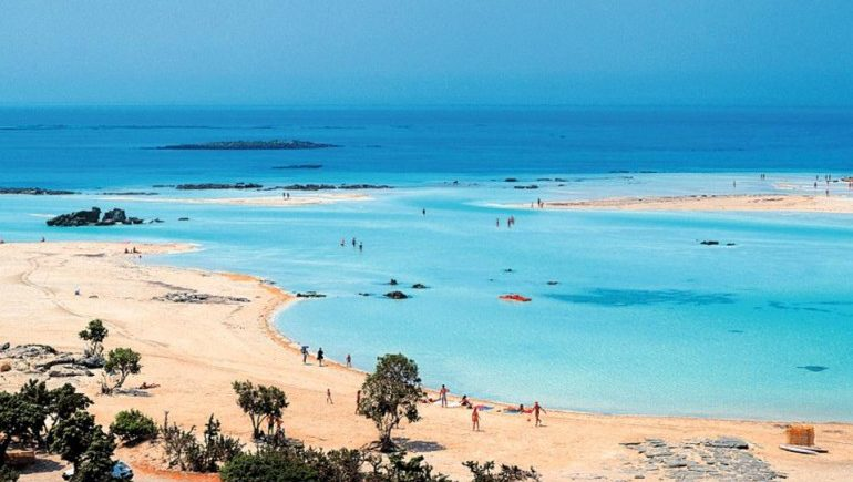 Пляж Элафониси (Elafonisi) на острове Крит (Греция)