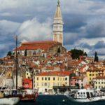 Город Ровинь на полуострове Истрия в Хорватии
