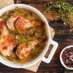 Рецепт курицы с грибами, горчицей и тимьяном